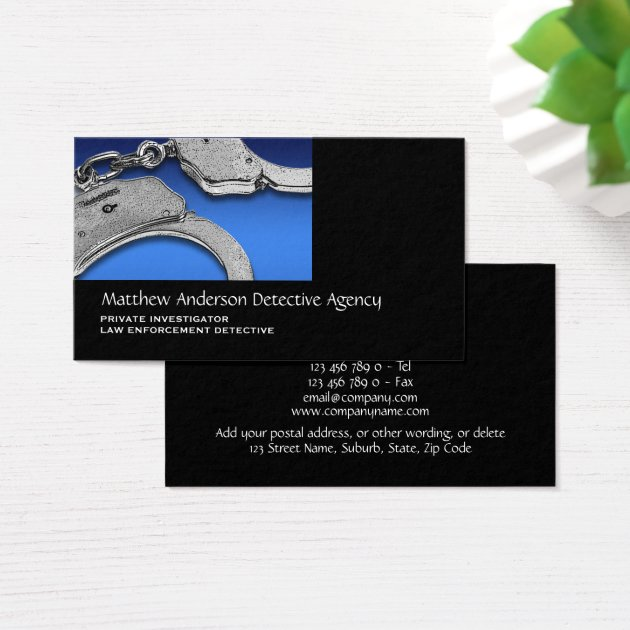 Private Investigator law enforcement Business Card