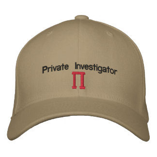 Private Investigator PI Baseball Cap