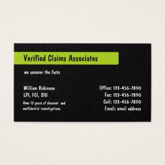 Private Investigator Services Business Card