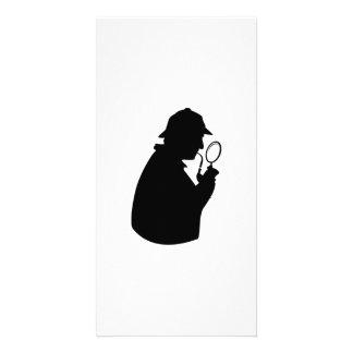 Private Investigator Silhouette Card
