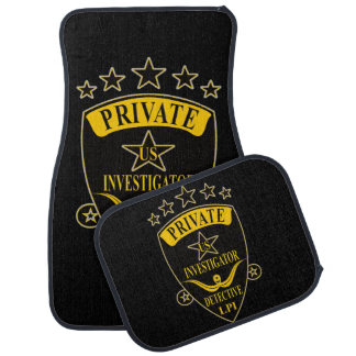 Private Investigator Car Mat