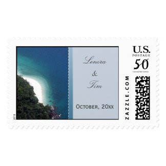 Private Island Beach Wedding Postage
