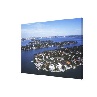 Private Island homes of Biscayne Bay, Star Canvas Print