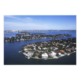 Private Island homes of Biscayne Bay, Star Photo Print