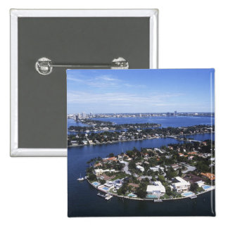 Private Island homes of Biscayne Bay, Star Pinback Button