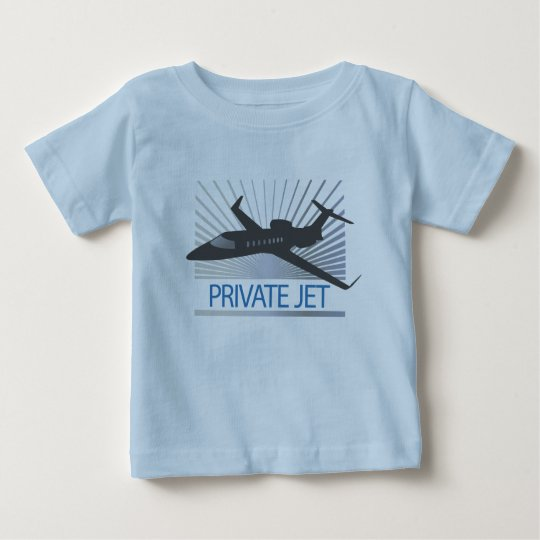 Private Jet Aircraft Baby T-Shirt
