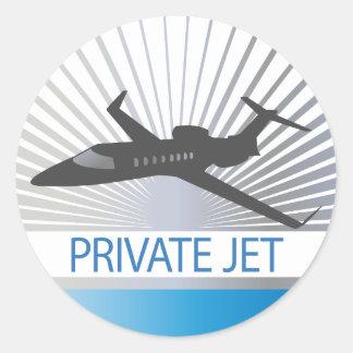 Private Jet Aircraft Classic Round Sticker