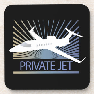 Private Jet Aircraft Coaster
