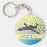 Private Jet Aircraft Key Chain