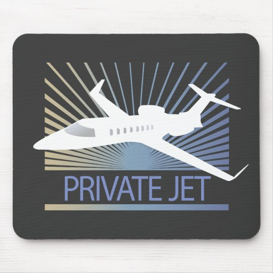 Private Jet Aircraft Mouse Pad
