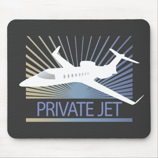 Private Jet Aircraft Mouse Pads