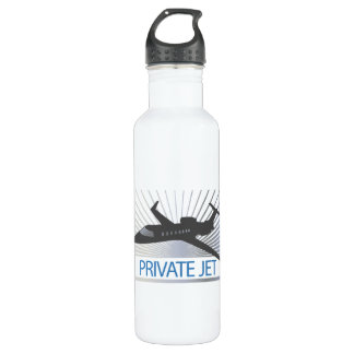 Private Jet Aircraft Water Bottle