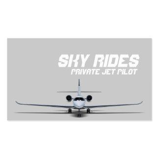 Private Jet Plane Pilot Sale Business Card