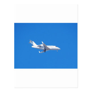 Private jet. postcard