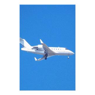 Private jet. stationery