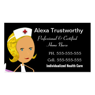 "Private Nurse Professional 3.5"" x 2.0"" Business Card"