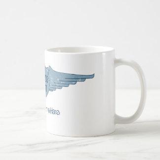 Private Pilot Blue Wings Coffee Mugs