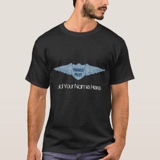 Private Pilot Blue Wings T-Shirt