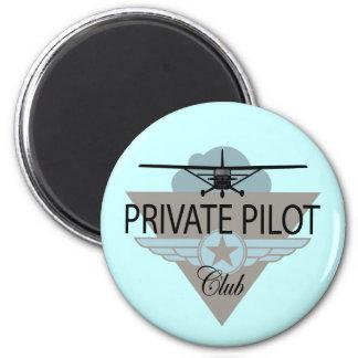 Private Pilot Club 2 Inch Round Magnet
