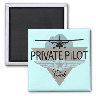 Private Pilot Club 2 Inch Square Magnet