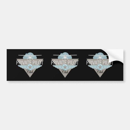Private Pilot Club Bumper Sticker