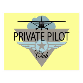 Private Pilot Club Postcard