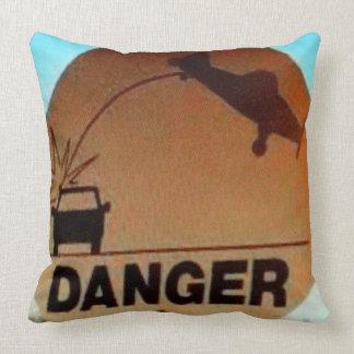 Private Pilot's Pillow: DANGER! Throw Pillow