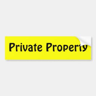 Private Property Car Bumper Sticker
