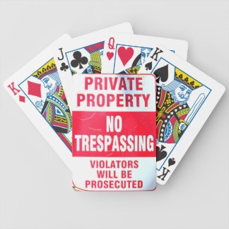 private property cards bicycle playing cards
