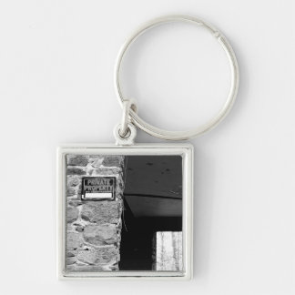 Private Property Keychain