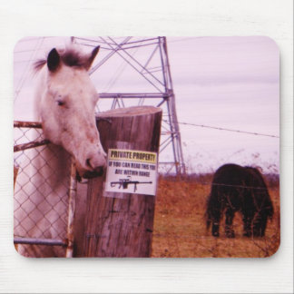 Private Property lavender Horse Mouse Pad