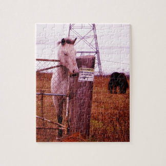 Private Property lavender Horse Puzzle