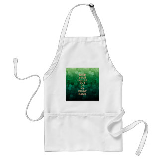 Private Property Piggy Bank Adult Apron