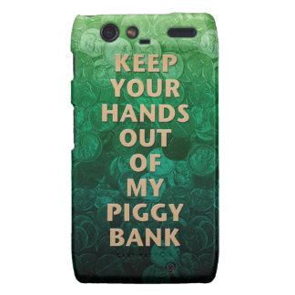 Private Property Piggy Bank Droid RAZR Cover