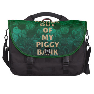 Private Property Piggy Bank Laptop Bags