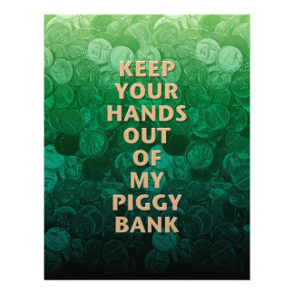 Private Property Piggy Bank Customized Letterhead