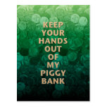 Private Property Piggy Bank Post Cards