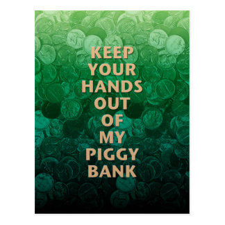 Private Property Piggy Bank Postcard