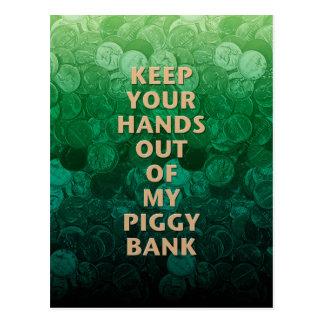 Private Property Piggy Bank Postcard