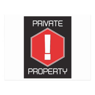 Private Property Postcard