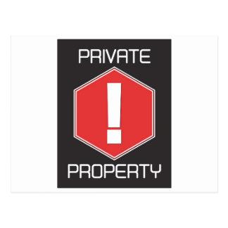 Private Property Postcard