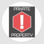 Private Property Sticker