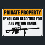 """Private Property Yard Sign<br><div class=""""desc"""">Private Property Yard Sign If you can Read this you are within range!</div>"""