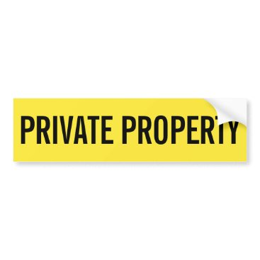 Professional Business Private property yellow and black sticker