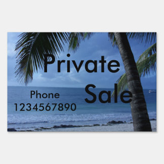 Private Sale Beach Yard Sign