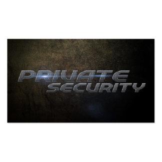 Private security Business card Plantilla De Tarjeta De Negocio