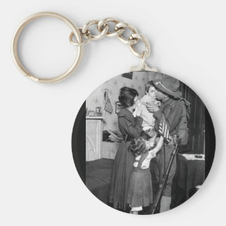 Private T.P. Loughlin of the 69th_War Image Basic Round Button Keychain