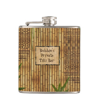 Private Tiki Bar with Your Name on it Flask