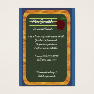 private tutor business card