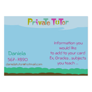 Private Tutor Large Business Card
